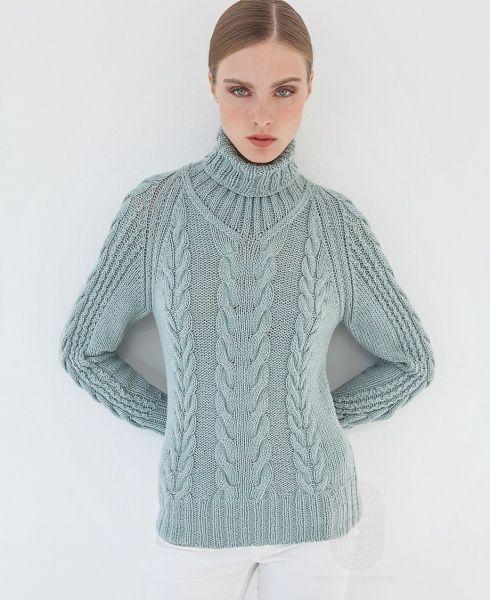 """Вяжем: Пуловер. """"Пуловер с косами"""" с подробной инструкцией на сайте…"""