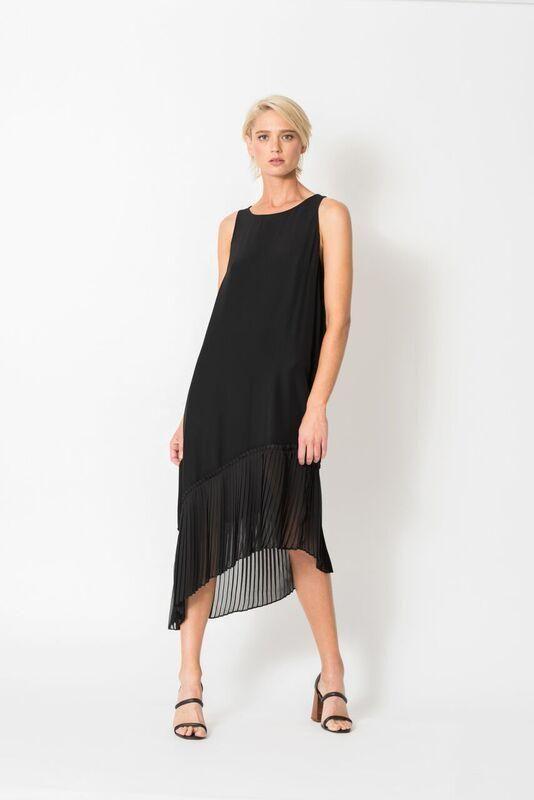 Chalice - Asym Pleated Dress