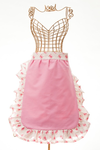 Pink Rose Frilly Pinny