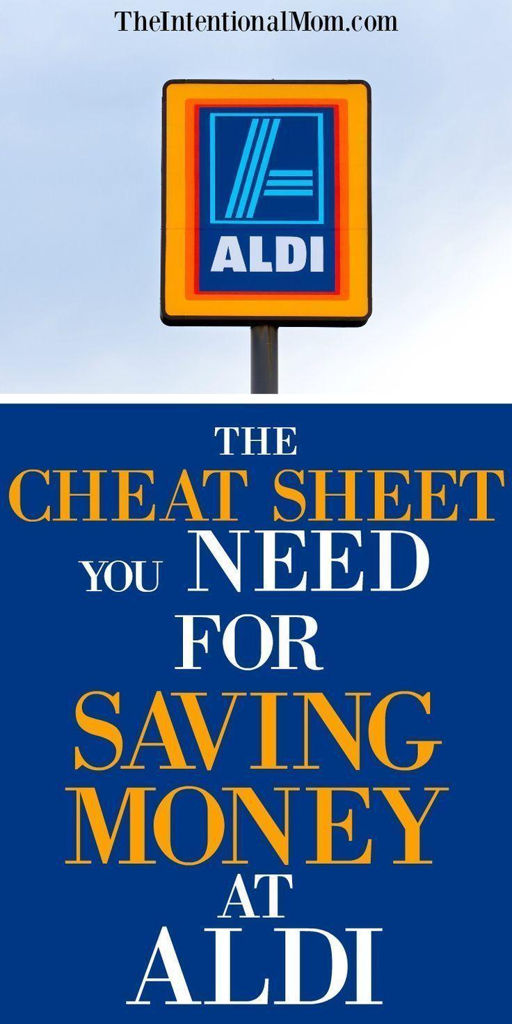 The Cheat Sheet You Need For Saving Money At Aldi Saving Money