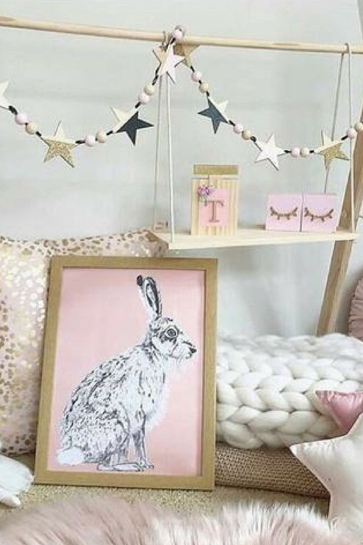 Our wooden buntings add a cool touch to any babies room.