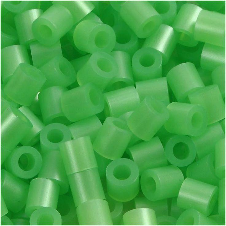 Perline da stirare 1100 pezzi colore verde, perline a fusione Nabbi beads, pyssla