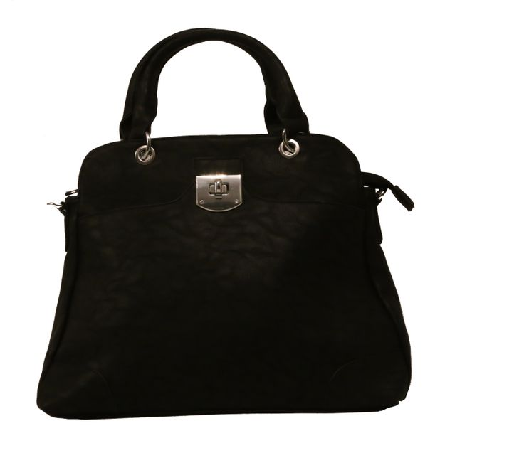 Krásná černá, elegantní a velmi prostorná kabelka hodící se k elegantnějšímu oblečení. Nosí se v ruce nebo přes rameno (její součástí je i dlouhý připínací pás). Uvnitř má jednu kapsu na zip a dvě malé na drobnosti.  Materiál: Eko kůže  Rozměry (výška:šířka): 23cm : 40 cm