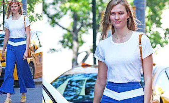 Styl podle celebrit: Uvolněný outfit podle Karlie Kloss