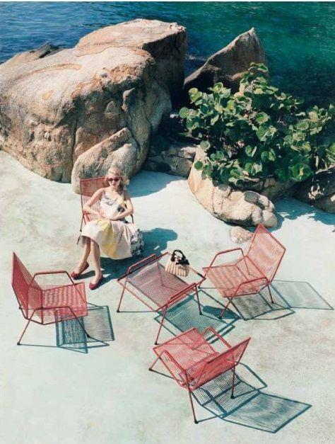 Summer Nostalgia: Jessicastam, Venetia Scott, Outdoor Seats, L'Wren Scott, Peace Places, Jessica Stam, Patio Sets, Paul Ka, Spring 2012