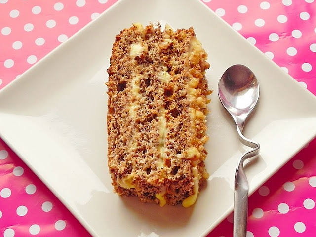 Caramelized Walnut Cake..