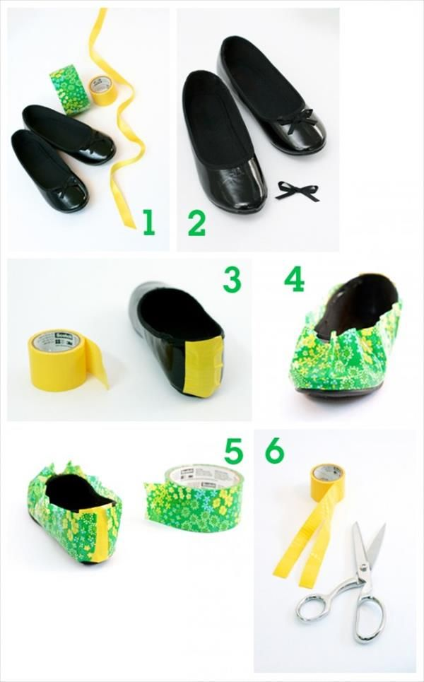 Make Your Old Shoes New: DIY Duct Tape Shoes | 101 Duct Tape Crafts Please follow us @ http://www.pinterest.com/ducktapesale/