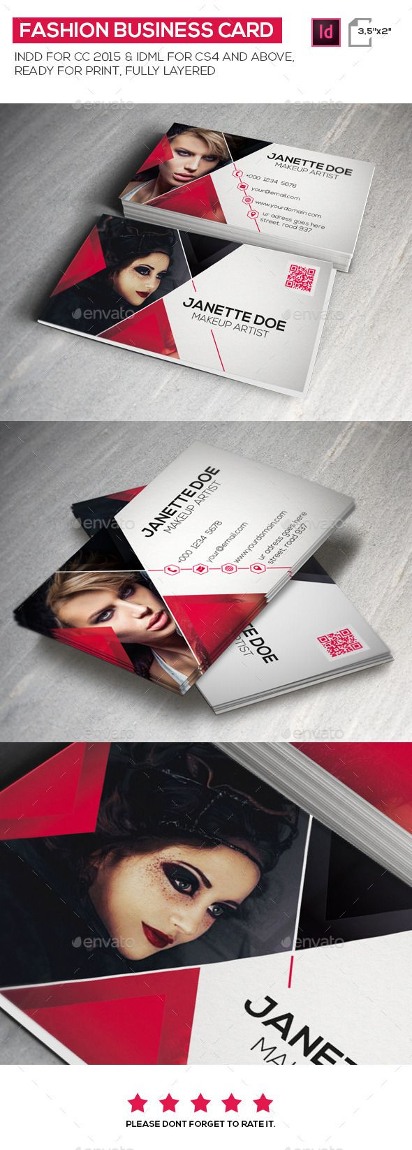 Fashion Business Card Template #design Buy Now: http://graphicriver.net/item/fashion-business-card/12876511?ref=ksioks
