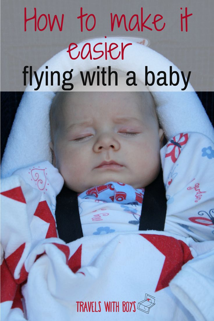 Tips from frequent flyers to make it easier flying with baby. Family travel.  travelwithboys.com