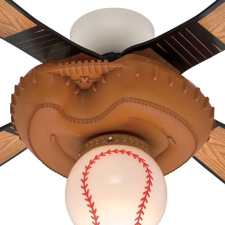 Hunter Baseball Ceiling Fan Globe