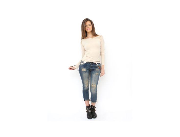 Blugi Skinny cu Bretele - Jeanşi & Pantaloni - Famevogue  #jeans #pants #style #fashion #trends