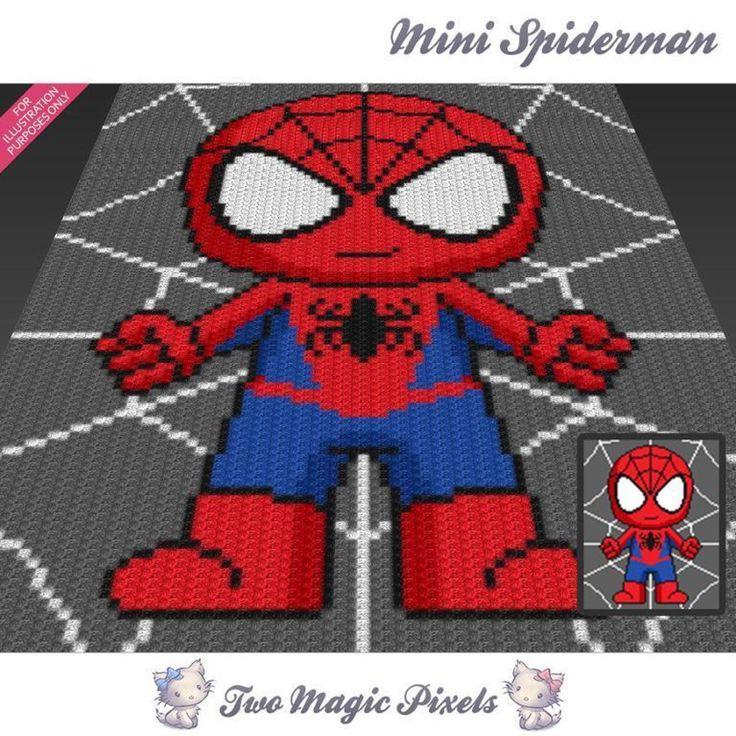 Mini Spiderman C2C Crochet Graph | Craftsy