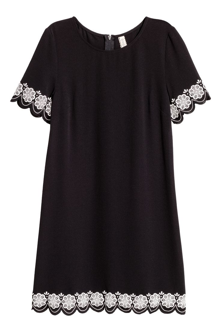 Lyhythihainen mekko - Musta - NAISET | H&M FI