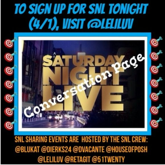"""🎯SNL is on tonight!! Go to @leliluv to join🎯 Saturday Night Live is an impromptu share group. It rotates closets through all our hosts. If you would like to be notified when and where the next one takes place, just """"like"""" their listing. If you would like to invite others or have questions, please do it HERE. We will share 3 items from each closet. Sign In Closes at 9pm EST. Everyone is Welcome to Join Us! Vintage Jewelry"""