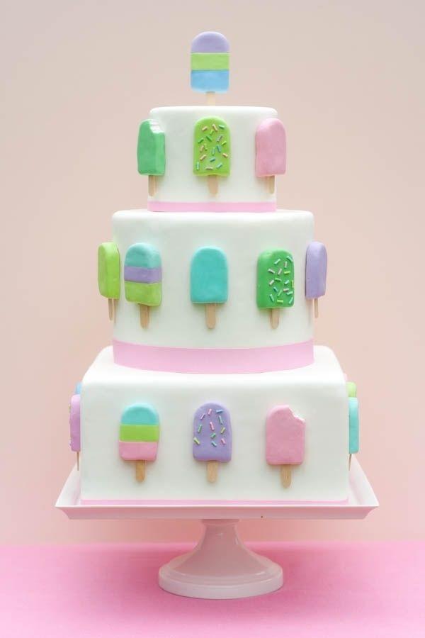 Ice cream pop cake