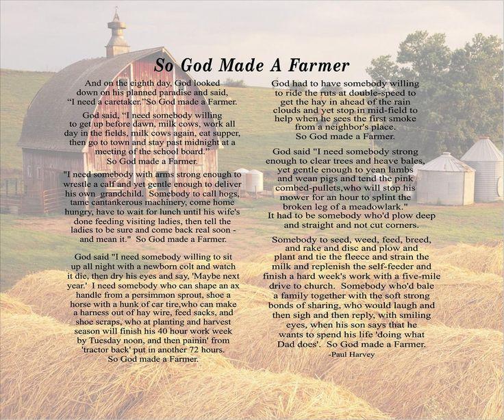 So God Made A Farmer Custom Photo Canvas Paul Harvey Christmas, Father's Day, FFA, Mother's Day Gift