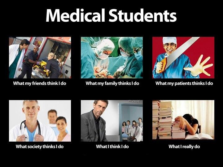 MEDICAL STUDENTS - what other people think I do