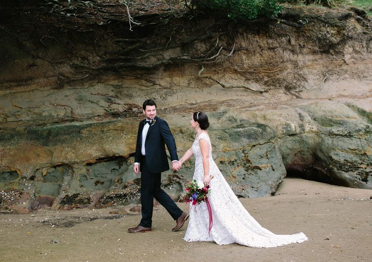 Ruth's real wedding was photographed on a New Zealand beach. The bride & groom look stunning! More brides here: www.annaschimmel.co.nz