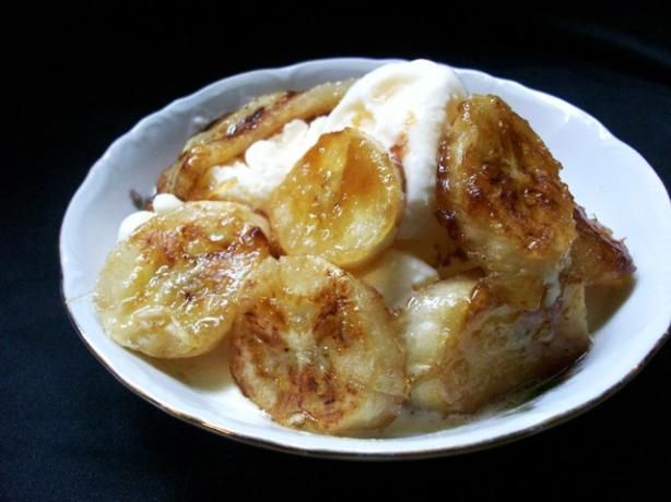 Caramelized bananas.  Need to find a yummy way to use up some bananas... maybe this?