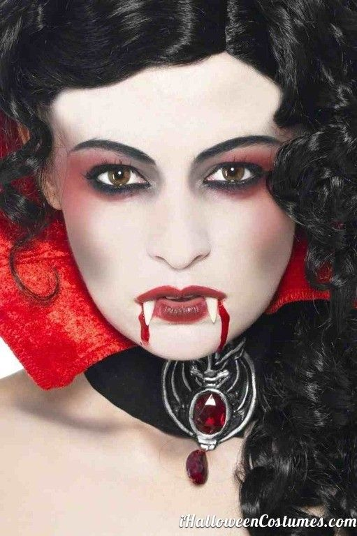 woman vampire makeup for halloween halloween costumes. Black Bedroom Furniture Sets. Home Design Ideas