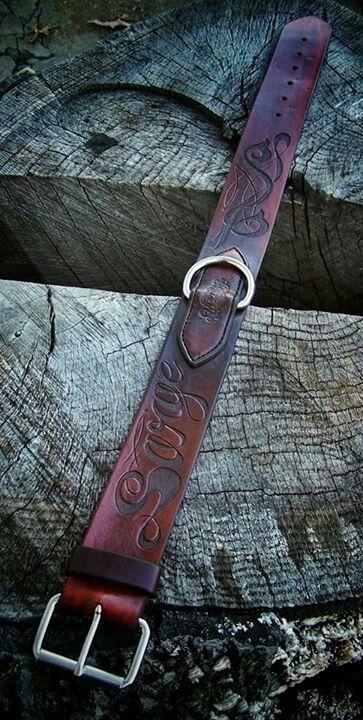 Custom leather dog collar by Kyle Moody