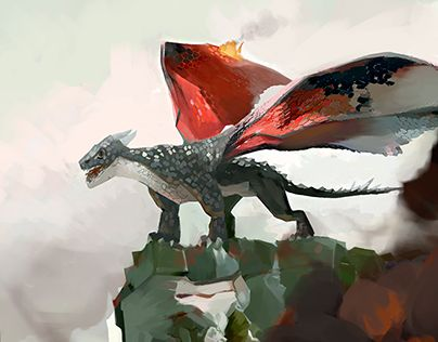 """Check out new work on my @Behance portfolio: """"Dragon, Cartoon Concept Art"""" http://on.be.net/1d2iN8q"""