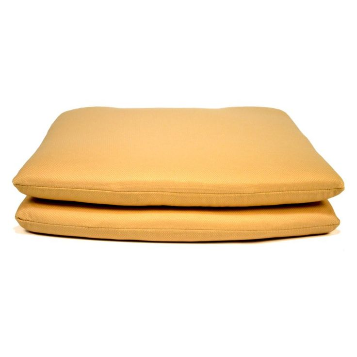 Casual Cushion Tapered Outdoor Seat Pad - Set of 2 Tapered Tan - DSSPTP-TANX2