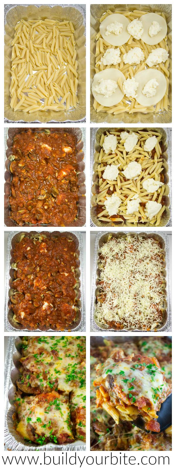 Freezer Friendly Oven Baked Ziti – an easy and delicious make ahead meal that can be frozen for later or cooked right away!