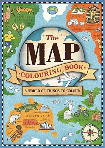 the map colouring book natalie hughes 9781780553610 amazoncom books - Colouring Books For Children