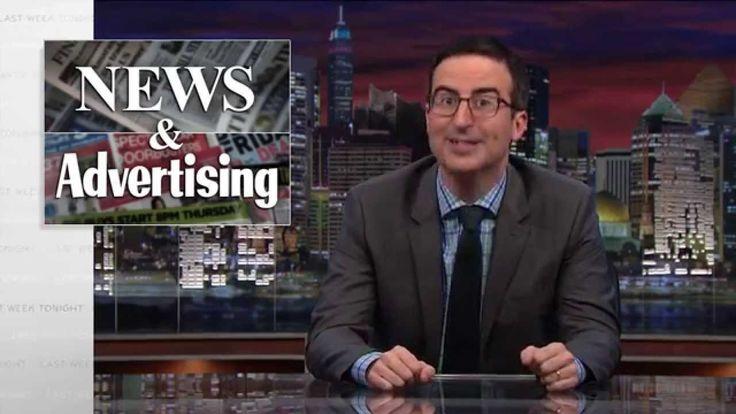 Host John Oliver Discusses Native Advertising on 'Last Week Tonight'