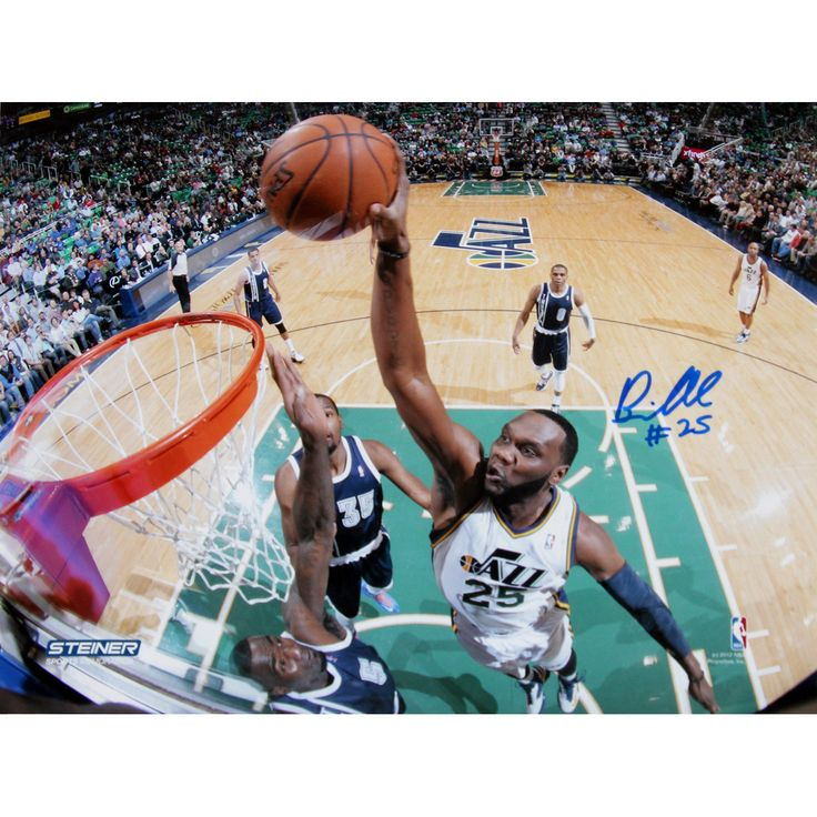 Al Jefferson Utah Jazz Dunk Against Oklahoma City Thunder Signed 8x10 Photo - Al Jefferson Autographed Photo-8x10-Steiner Holo.-Al Jefferson has personally hand-signed this 8x10 photo. Jefferson is a rising star on the Jazz and is one of the best bigs in the league so his autograph is a great addition to the collection of any basketball fan. This Al Jefferson autograph is guaranteed authentic by Steiner Sports and includes a Steiner Sports Certificate of Authenticity and accompanying…