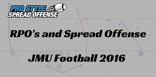 RPO's and Spread Offense Concepts from JMU Football 2016