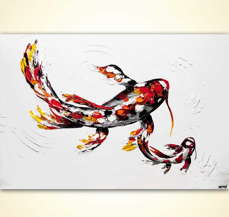 1000 images about koi fish gold fish on pinterest for Koi artwork on canvas