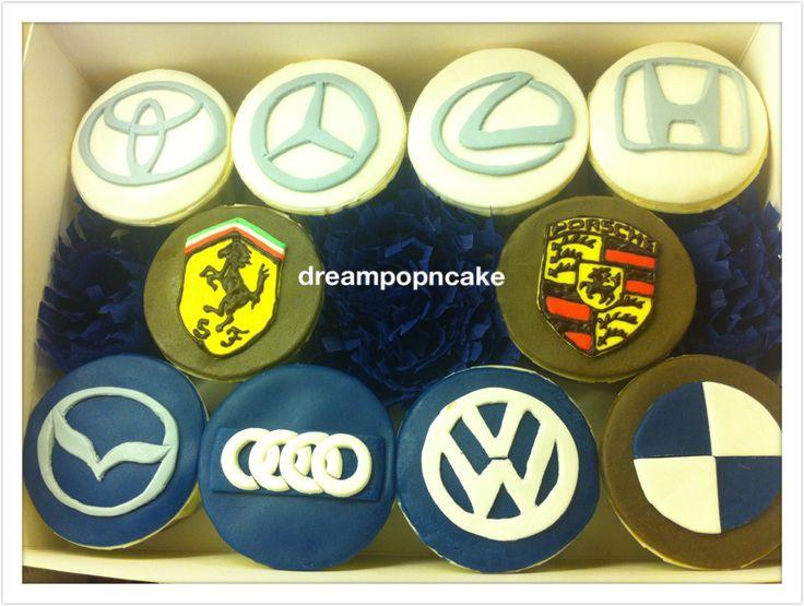Cupcake Car Logo Cake My Handmade Cake Cake