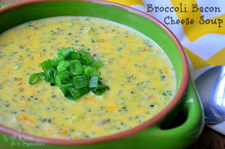Broccoli. Bacon chz soup