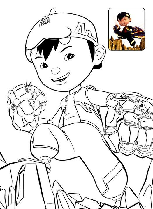 Boboiboy Coloring Sheet For Kids Adib Coloring For