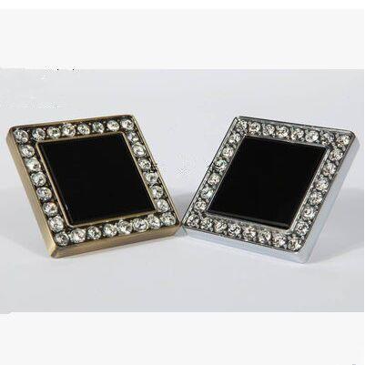 luxe kristal diamant decoratie brons keukenkast knoppen van meubels slingerknop glanzend zilver dressoir kast trekken(China (Mainland))