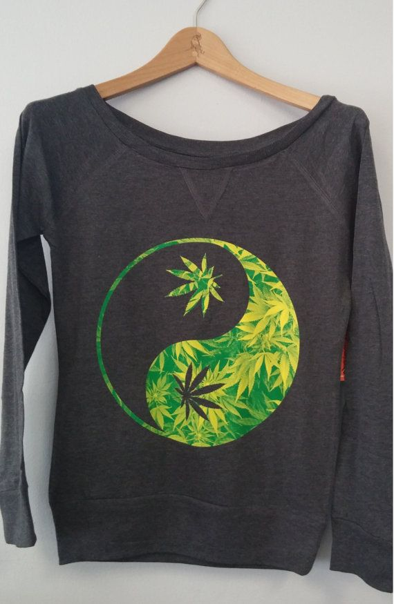 Long Sleeve Shirt - Yin Yang Weed #Apparel #Fashion www.purpworld.com