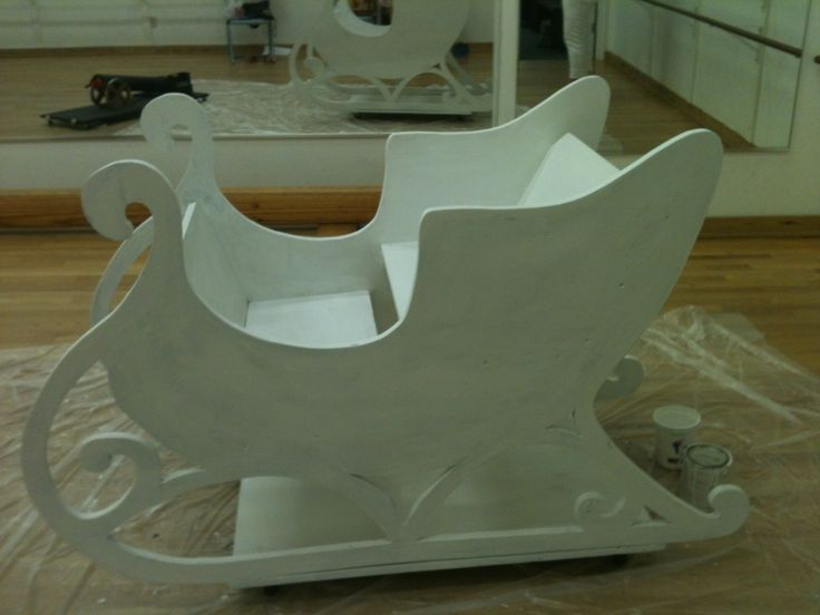 Nutcracker sleigh before redesign.