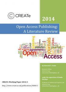 Publicación en Acceso Abierto: Una Revisión de la Literatura | Universo Abierto