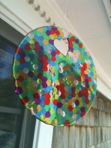 Create a beautiful sun catcher with this tutorial, some clear pony beads, a cake pan (and/or muffin tins), and an oven!