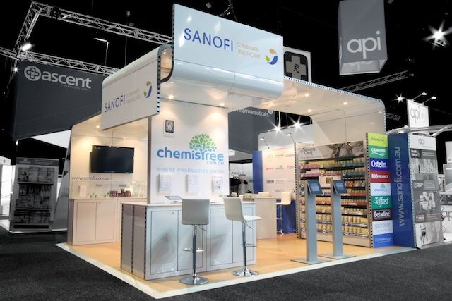Pod Exhibition Stand Design : Sanofi exhibition stand designed and constructed by