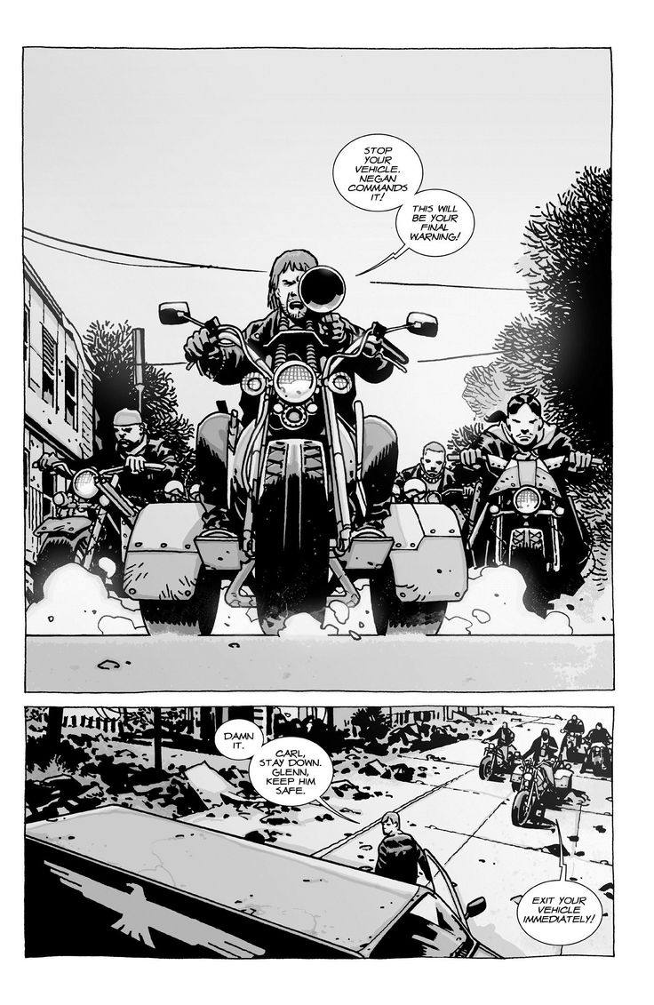 Walking Dead bike gang from Charlie Adlard