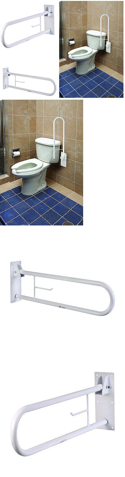 Handles and Rails: Safety Rail Frame Bathroom Toilet Grab Bar Support Handicap Holder Handle Aid BUY IT NOW ONLY: $97.95