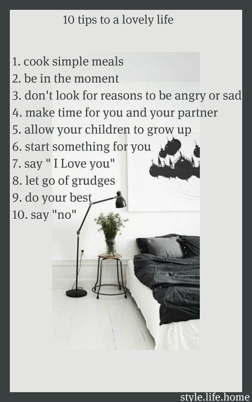 tips for a lovely life