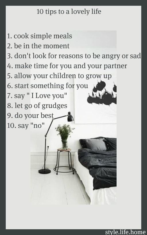 tips for a lovely life