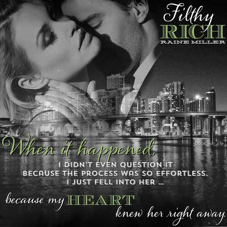 FAN ART BY LISA WILSON.  Filthy Rich by Raine Miller.