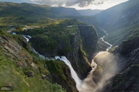 Vøringsfossen, Norway. You can almost see the trolls and elves from here...