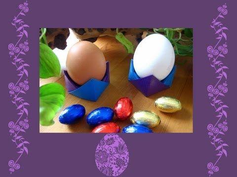 Porta uovo origami per Pasqua Video Tutorial