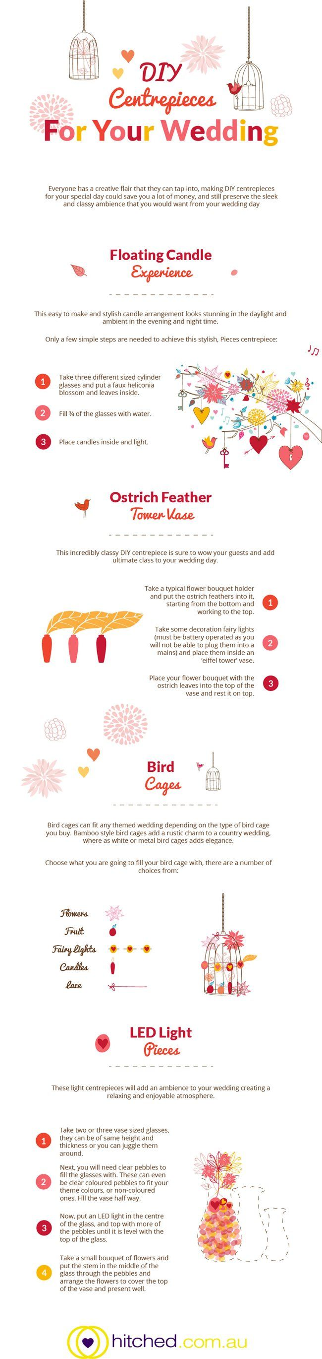 DIY Wedding Centrepiece Ideas infographic #infographic #wedding
